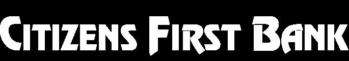 Citizens First Bank text logo