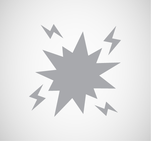 graphic of an cartoon explosion in gray