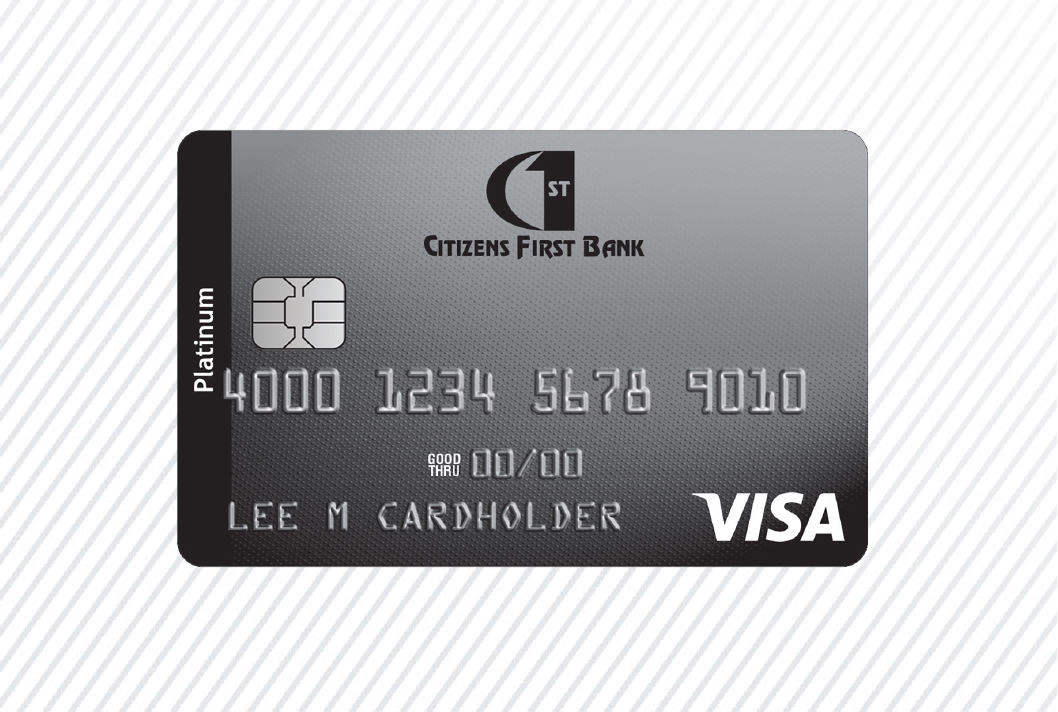 Citizens First Bank Personal Platinum Credit card art