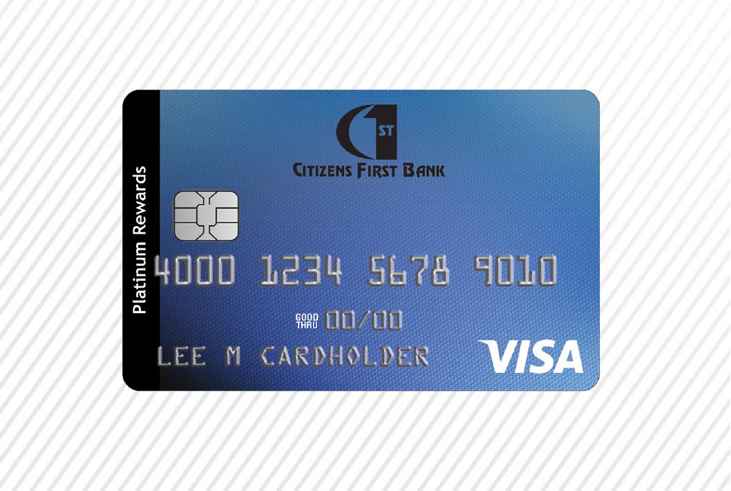 Citizens First Bank Personal Platinum Rewards Credit card art