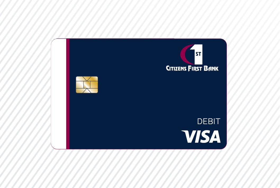citizens first bank personal visa debit card